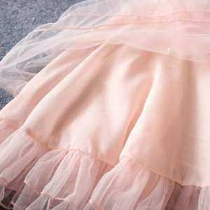 Ishowmall Flower Girl Summer Princess Dress Kid Baby Party Wedding Lace Tulle Tutu Dress