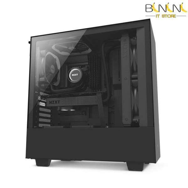 NZXT H500 Compact Mid-Tower Case with Tempered Glass  Matte Black / Matte Black & White Malaysia