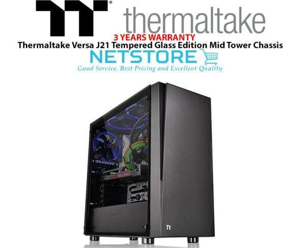 Thermaltake Versa J21 Tempered Glass Edition Mid Tower ATX Casing Malaysia