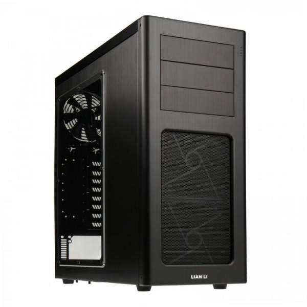 LIAN LI PC-7HWX FULL ALUMINIUM MID TOWER ATX CASING BLACK Malaysia