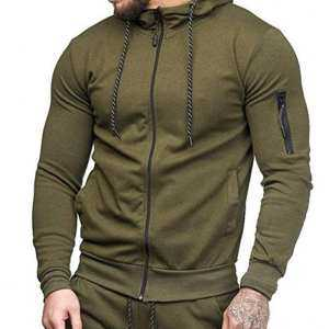 Hình thu nhỏ sản phẩm YANYI Men Slim Fit Sports Hoodies Zipper Closure Fashion Casual Jacket Sweatshirts