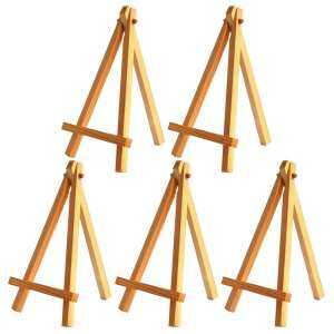 Hình ảnh 5PCS Children Mini Wooden Display Easel Holder Stand for Art Painting Canvas Decoration Blackboards Mobile Phone
