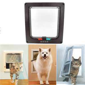 Hình thu nhỏ sản phẩm GoodGreat Adjustable Direction Pet Door Cat Flap Door Magnetic Pet Door With 4 Way Lock For Cats, Kitties And Kittens, 3 Sizes And 2 Colors Options