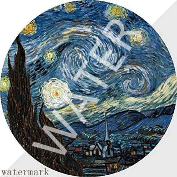 Mouse Pad Gaming Van Gogh Starry Night 7 Inches 1M1883, Premium-Textured Surface, Non-slip Rubber Base, Laser & Optical Mouse Compatible, Mouse mat Malaysia