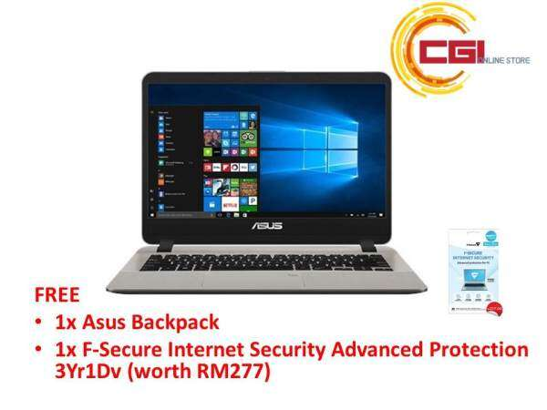 Asus Vivobook A407M-ABV037T 14 Laptop - Gold (N4000,4GB,500GB,INTEL HD,W10) Malaysia