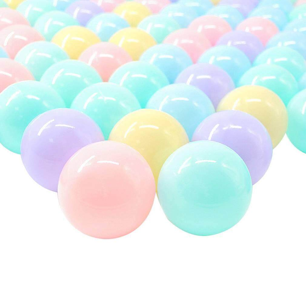 Bigood 50pcs 6CM Colorful Ocean Ball Playballs Plastic Balls Baby Kid Swim Pit Toy,Pool Not Included