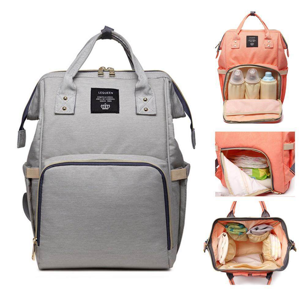 OXOQO Diaper Nappy Bag Travel Backpack Waterproof Multi-Function Mommy Bag Baby Care Large Capacity Durable Size:25*15*40cm 36-55L