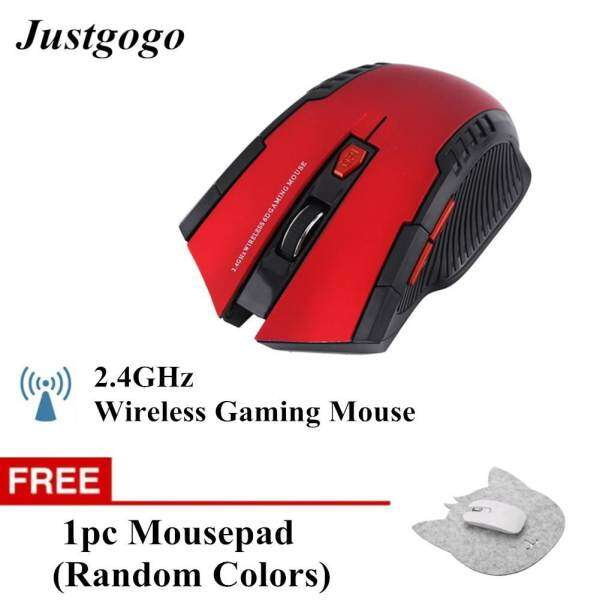 Buy 1 Free 1 Justgogo 2.4Ghz Mini Portable Wireless Optical Gaming Mouse Red Malaysia