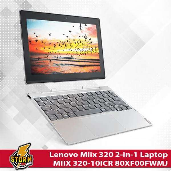 Lenovo Miix 320 2-in-1 Laptop with Detachable Keyboard - MIIX 320-10ICR 80XF00FWMJ (INTEL® ATOM™ x5-Z8350 QUAD-CORE PROCESSOR) - Platinum Malaysia