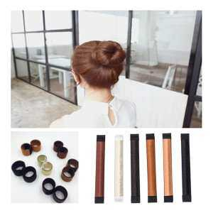 Hình thu nhỏ sản phẩm noion 6Pcs Women Girls Hair Bun Maker Magic Hair Styling Making DIY Curler Roller French Twist Hair Accessories-Easy Making Natural Look Bun Disks Tool - intl