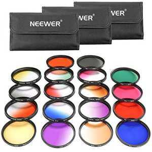 Hình thu nhỏ Neewer 52MM 18 Pieces Lens Filter Kit Includes:9 Pieces Full Color Filter, 9 Pieces Graduated Filter,3 Filter Pouch for Nikon D7100 D7000 D5200 D5100 D5000 D90 D80 and Other DSLR Camera with 52MM Lens