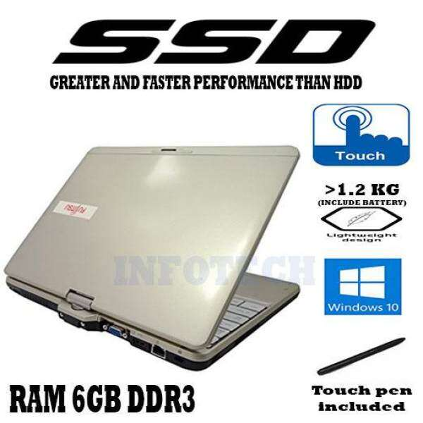 Fujitsu Intel Celeron 6GB DDR3 SSD TOUCH PEN FLIP SCREEN LIGHT Lifebook LAPTOP NOTEBOOK NETBOOK Malaysia