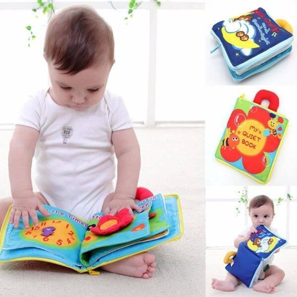2 pcs baby toys soft cartoon cloth books for new born baby