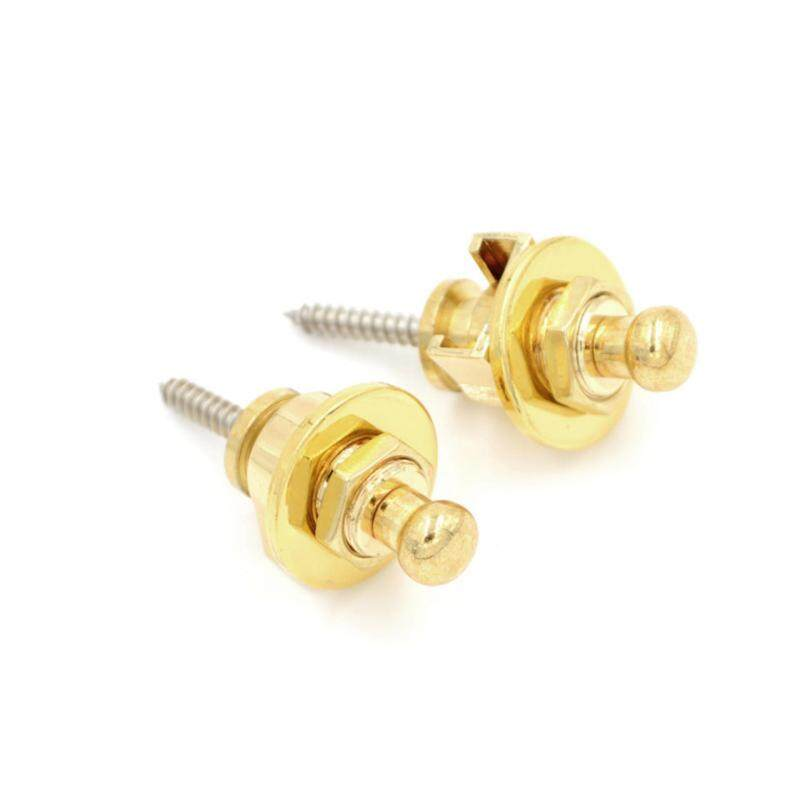 2pcs Electric Acoustic Guitar Bass Strap Locks Button Musical Instrument Parts Gold Malaysia