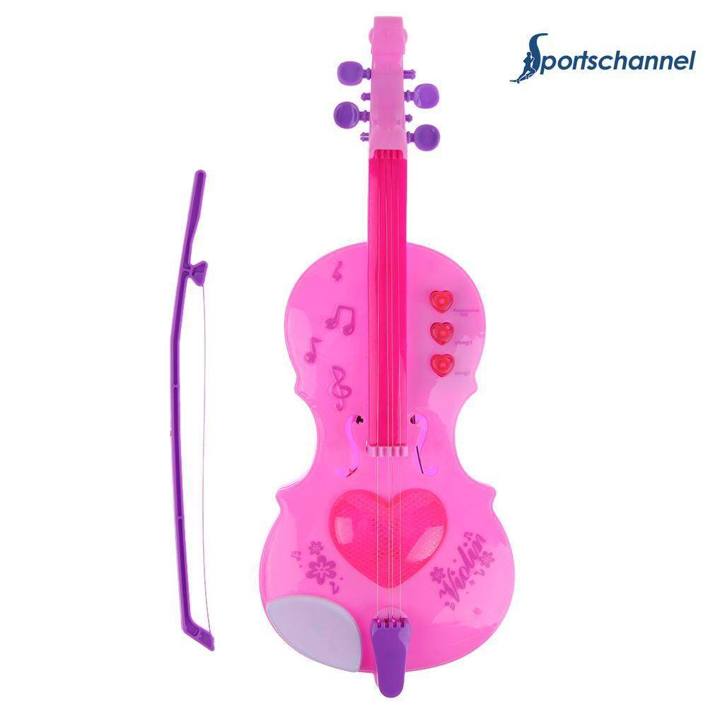 4 Strings Music Electric Violin Kids Musical Instruments Educational Toys - Intl By Sportschannel.