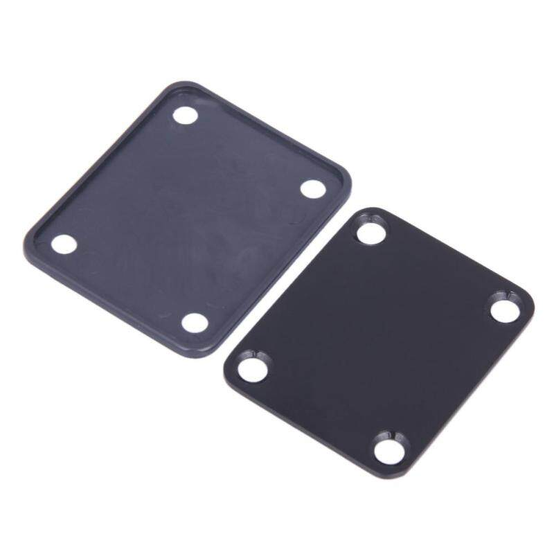 Chrome Guitar Neck Plate With One Rubbermat Stratocaster Telecaster TS Malaysia