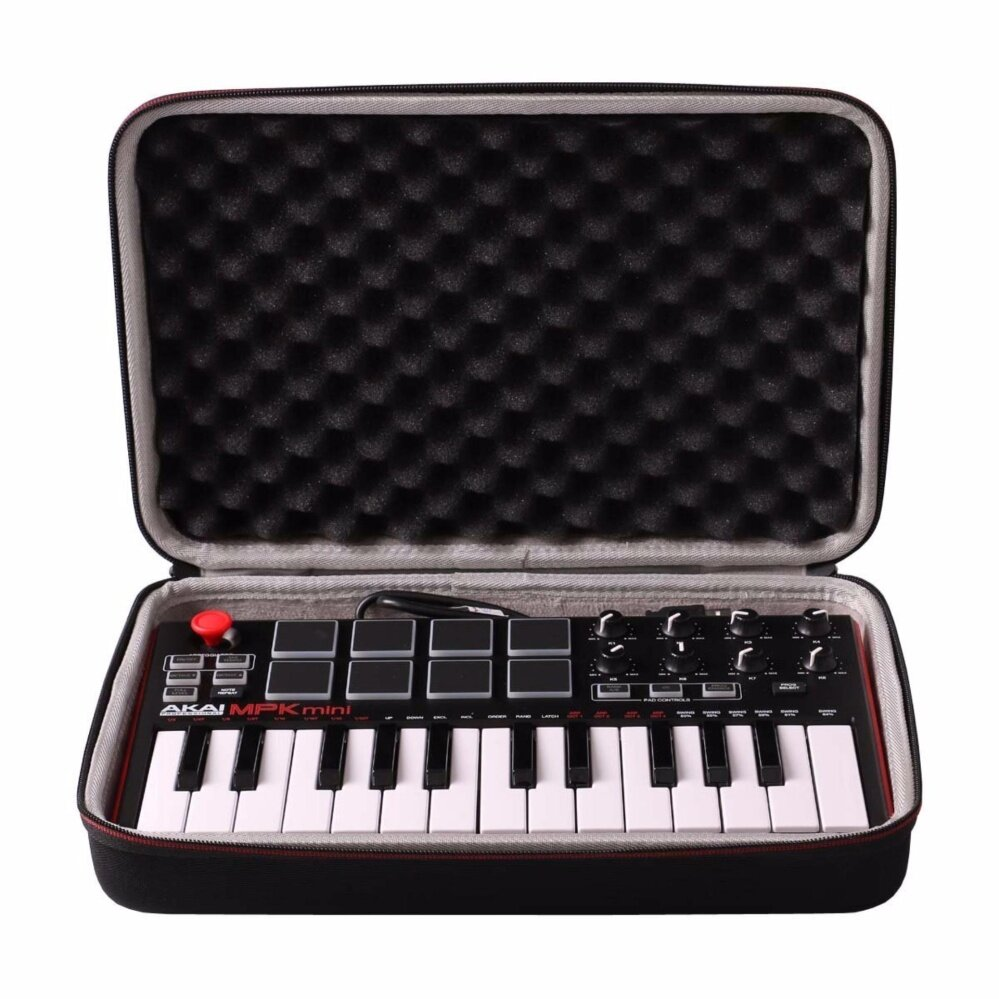Ltgem Eva Hard Storage Carrying Case For Akai Professional Mpk Mini Mkii 25-Key Usb Midi Controller - Intl.