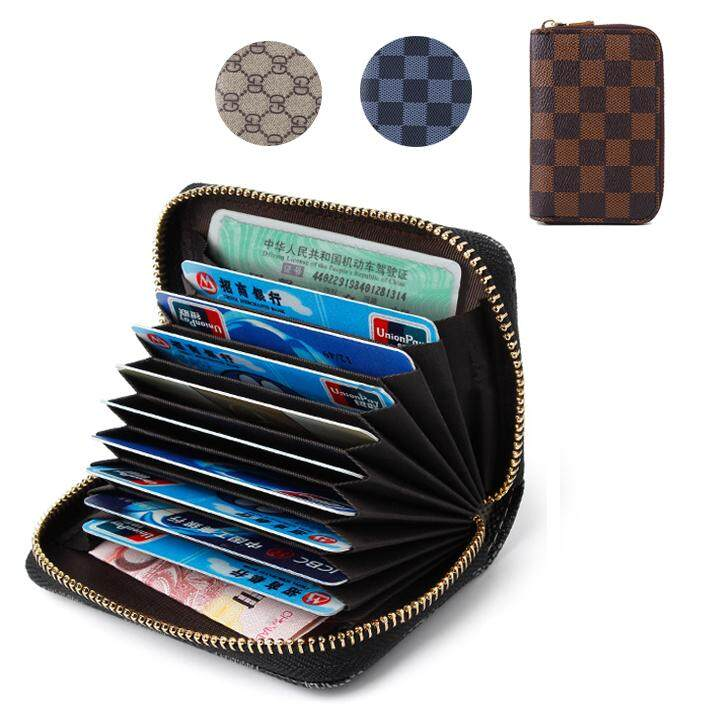 CENBLUE PU Leather Credit Card Holder Travel Wallet for Men and Women Lattice - intl