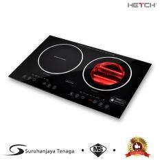 Hetch 2 In 1 Induction Halogen Cooker 1500w 1600w Sirim Certified Malaysia Standard