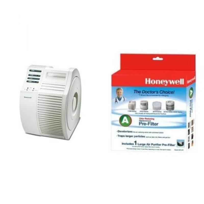 Honeywell 17000-S QuietCare True HEPA Air Purifier, 200 sq ft and Honeywell Filter A HRF-AP1 Universal Carbon Air Purifier Replacement Pre-Filter Bundle - intl Singapore