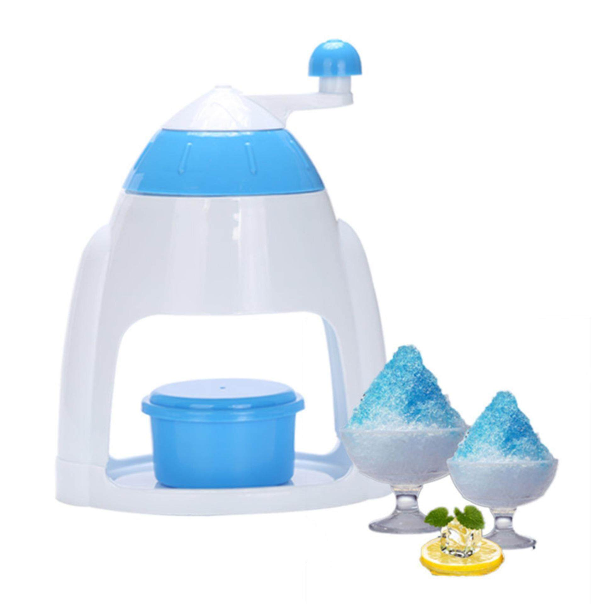 Ice Crushers Shavers Portable Blue Handheld Manual Household Snow Cone Smasher Grinder Machine As Plastic Handstyle - Intl By Cessna.