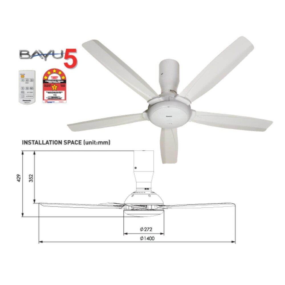 Panasonic cooling heating fans price in malaysia best panasonic f m14d5 wt bayu5 ceiling fan mozeypictures Gallery