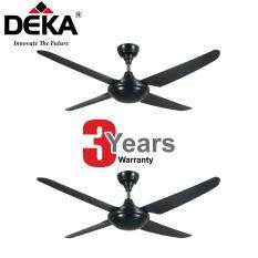 TWIN PACK DEKA Kronos 4 Blade Ceiling Fan F5 4P With Remote