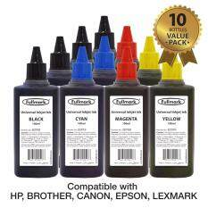 10 bottles x Fullmark BI099 Universal Refill Ink,10 x 100ml (4 x Black, 2 x Cyan, 2 x Magenta, 2 x Yellow) - compatible with HP, Canon, Epson, Brother and Lexmark printer