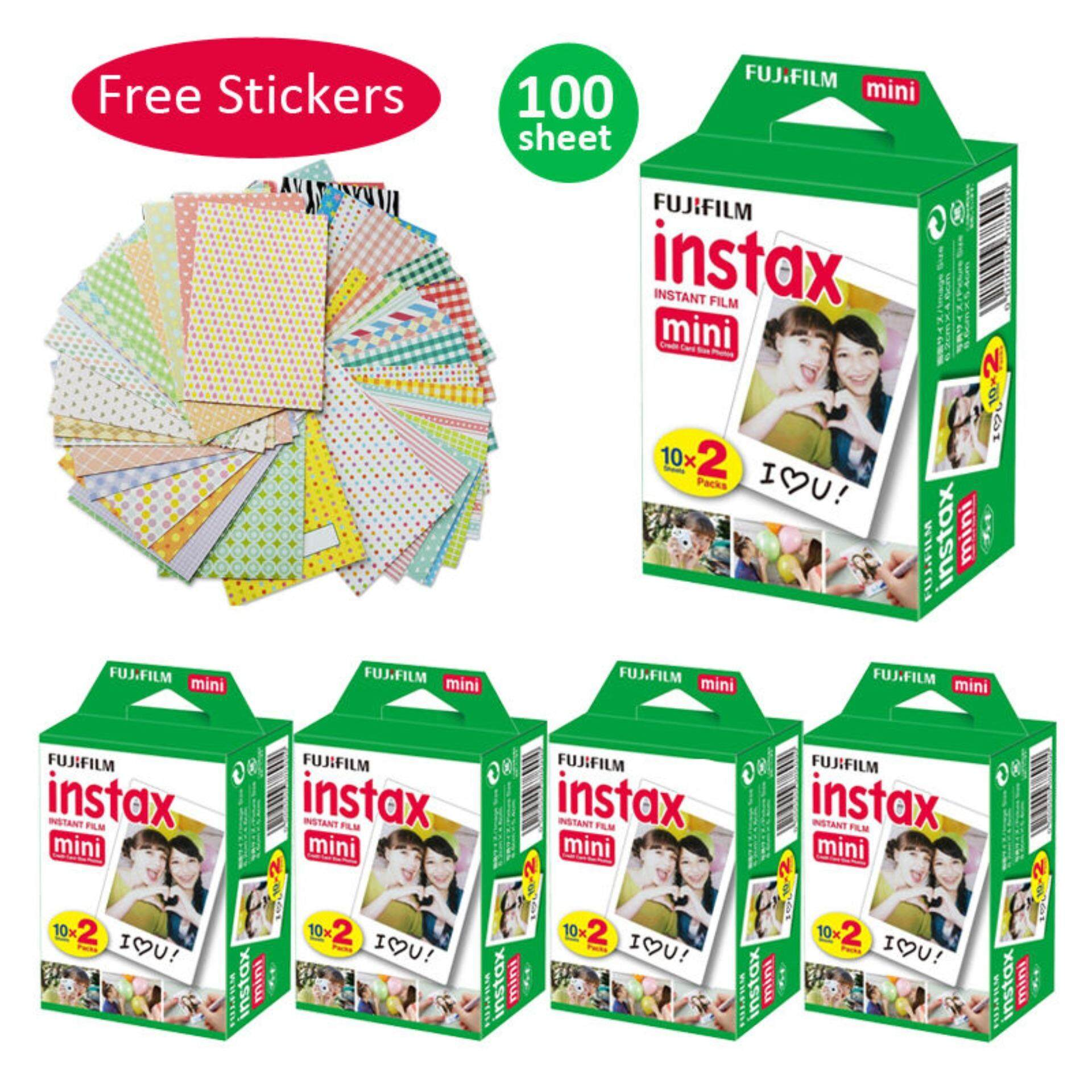 100 Sheet Fujifilm Instax Mini Film Fuji Instant Photos 7s 8 25 90 Sp-1 Sp-2 Sticker - Intl By Misuta.
