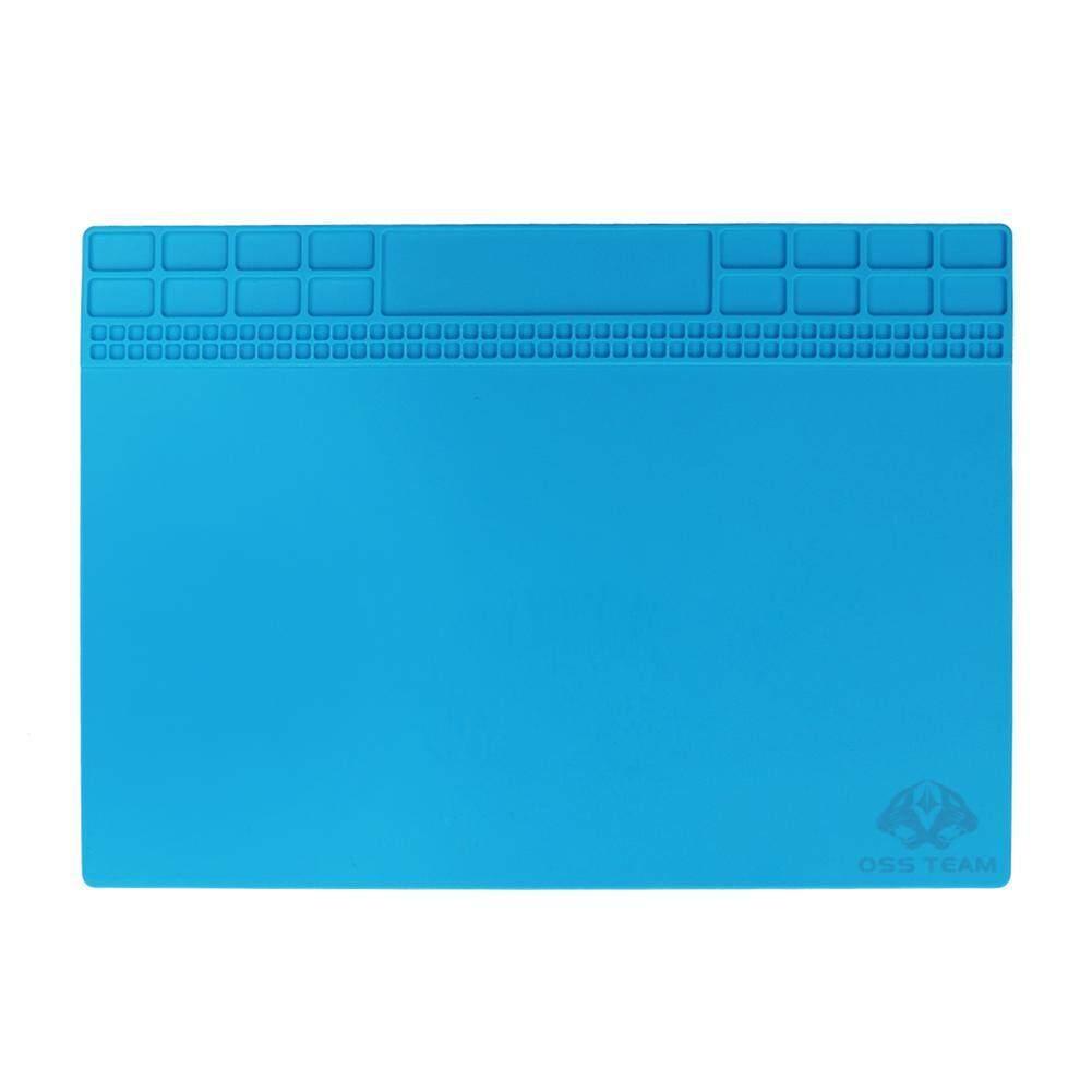 350X250mm Magnetic Panas Isolasi Desk Smart Phone Perbaikan Plat for m Pad    ( biru Muda   )    - Intl   ( Light blue   )