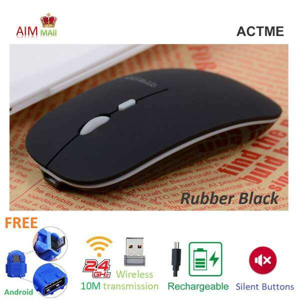 ACTME T5 Rechargeable 2.4G Wireless Advanced invisible optical and silent buttons mouse Malaysia