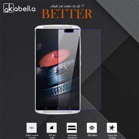 Akabeila 2 Pcs Smartphone Kaca Kokoh untuk Lenovo Getaran X3 X3a40 X3c50 X3c70 C50 4G LTE