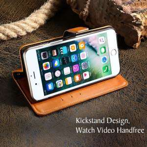 Hình thu nhỏ sản phẩm AKABEILA Leather Wallet Phone Case For Samsung Galaxy J2 2018 J2