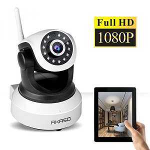 Hình thu nhỏ sản phẩm AKASO IP Security Wifi Camera 2.4GHz & 1080P Wireless Video Surveillance Monitor Home Indoor Webcam, 1920 ×1080, Pan/Tilt, Night Vision, Two Way Audio, SD Card Slot ( IP2M-903 )