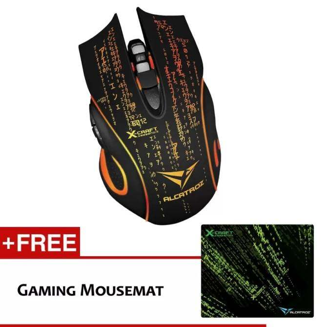 Alcatroz X-Craft Noiz Z8000 Gaming Mouse Free Mouse Pad - intl