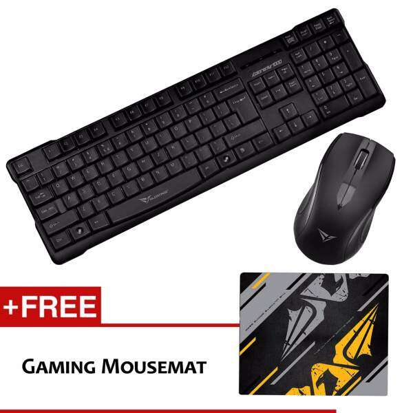 Alcatroz Xplorer Air 1000 Multimedia Wireless Gaming Keyboard Mouse Combo Free Mousemat (Grey) Malaysia