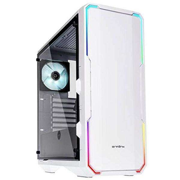 BitFenix Enso White, ATX/mATX/Mini ITX Mid Tower Case - Tempered Glass Window, Alchemy 3.0 Addressable Asus AURA SYNC RGB LED Design with Controller -BFC-ENS-150-WWWGK-RP Malaysia