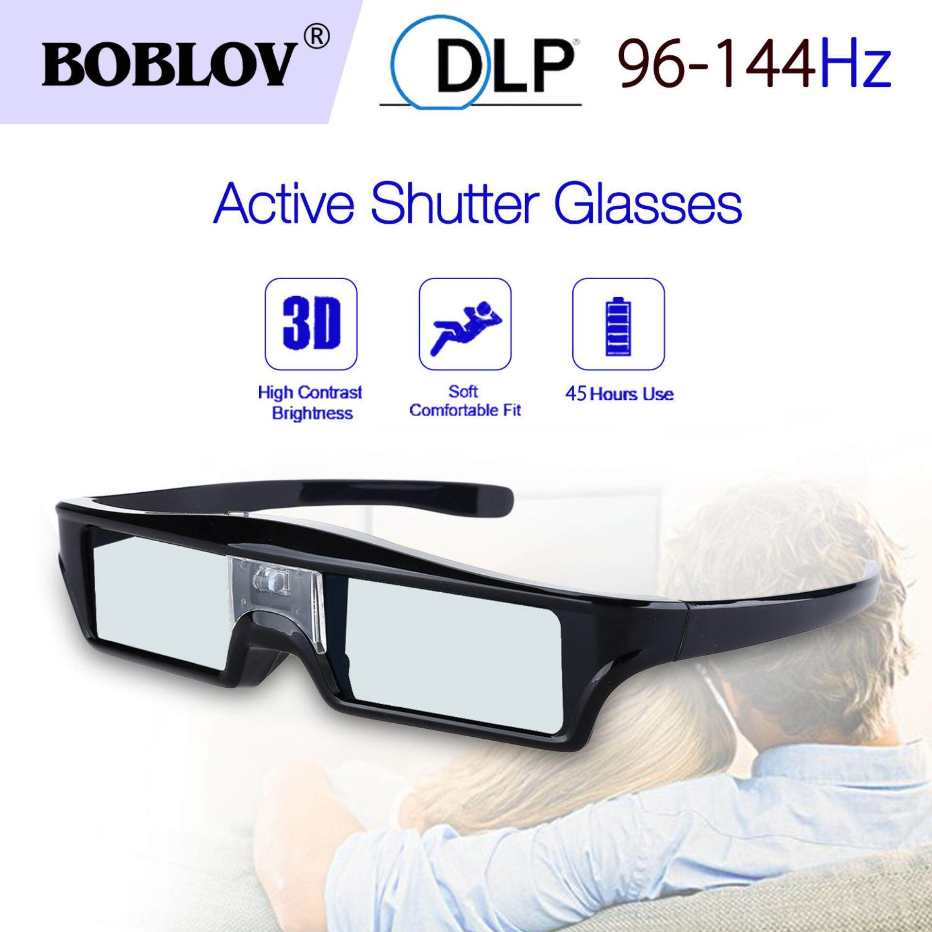Boblov 3d Dlp-Link 144hz Active Shutter Glasses 8m Movie For Dlp Link Projector - Intl.