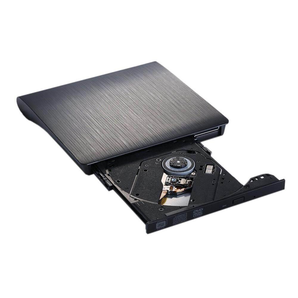 Burner USB 3.0 DVD CD R / RW external Slim Ultra Smooth Recorder / Player External Portable Netbook Laptop Desktop, Windows Apple Mac OS - Black - intl