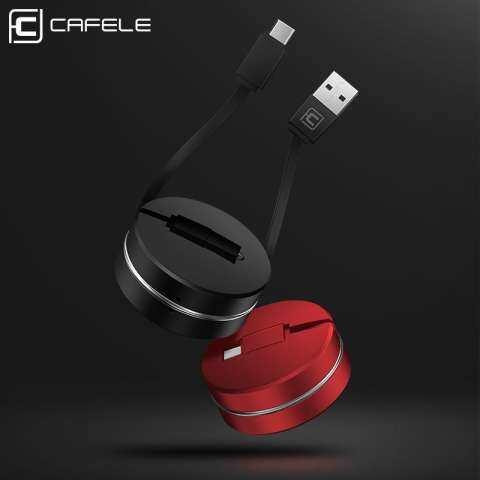 Cafele 1 M Teleskopik USB Kabel Tipe C Portabel Fleksibel Pengisian Data Sinkronisasi Kabel Kabel untuk Samsung Galaksi S8 PLUS catatan 8 Piksel 2 XL Moto Z Z2 LG G5 G6 V30 Huawei Xiaomi OPPO 5