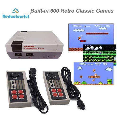 Classic Family Game Consoles Professional System For Nes Game Player Built-In 600 Tv Video Game With Dual Controllers Models:hdmi Edition Specification:uk Plug - Intl By Redcolourful.
