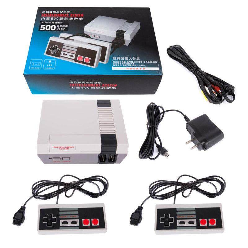 Classic Retro Childrens Game Console Professional System With 2 Controllers Built-In 500 Tv Video Game Specification:u.s. Regulations - Intl By Redcolourful.