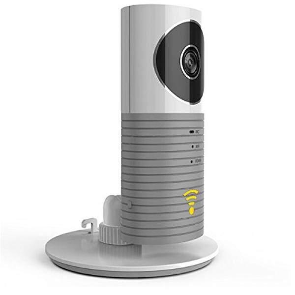 Clever Anjing Pintar Ip Kamera, ozlon Wifi Kamera Monitor Bayi dengan P2P Malam Vision Merekam Video Gerak Audio Dua Arah Terdeteksi untuk iPhone iPad Android Smartphone (Kartu Memori Tidak Termasuk) (Abu-abu)-Internasional