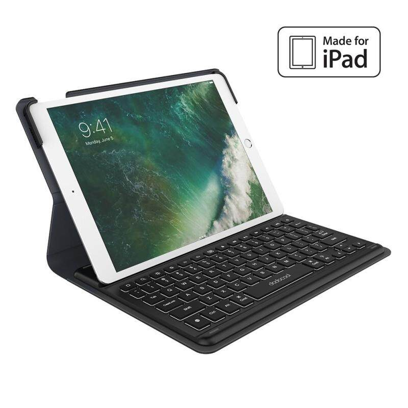 (Ready Stock)dodocool MFi Certified Smart Keyboard for 10.5-inch iPad Pro with Smart Connector Slim Shell Protective Cover Folio Case Stand Backlit Keys Shortcuts Auto Sleep / Wake and Built-in Holder for Apple Pencil Black - intl