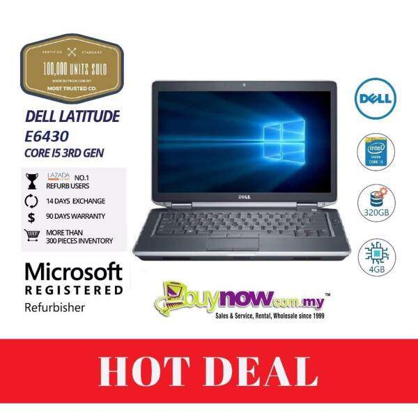 Factory Refurbished Notebook Dell Latitude E6430, 3rd Gen,i5, 4GB, 320GB,(Free Wireless Mouse) Malaysia