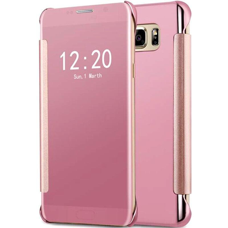 Fashion Clear View Mirror Screen Flip Case Cover For Samsung Galaxy C9 Pro / c9pro /