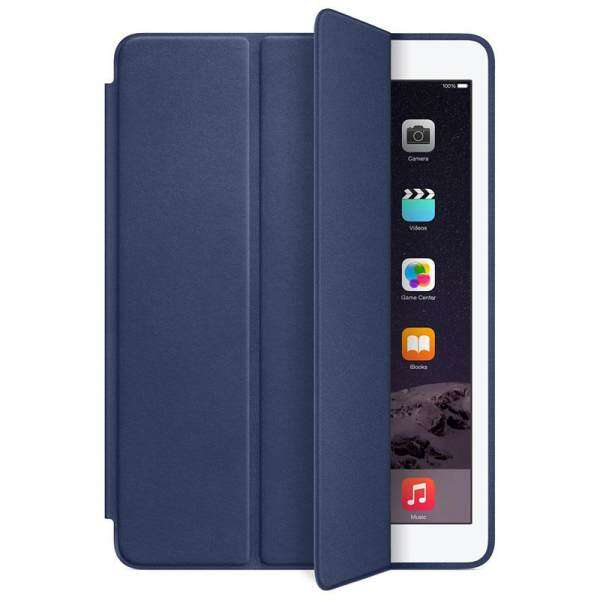For iPad Air 2 Genuine Leather Smart Case Cover Slim Wake Dark blue Malaysia
