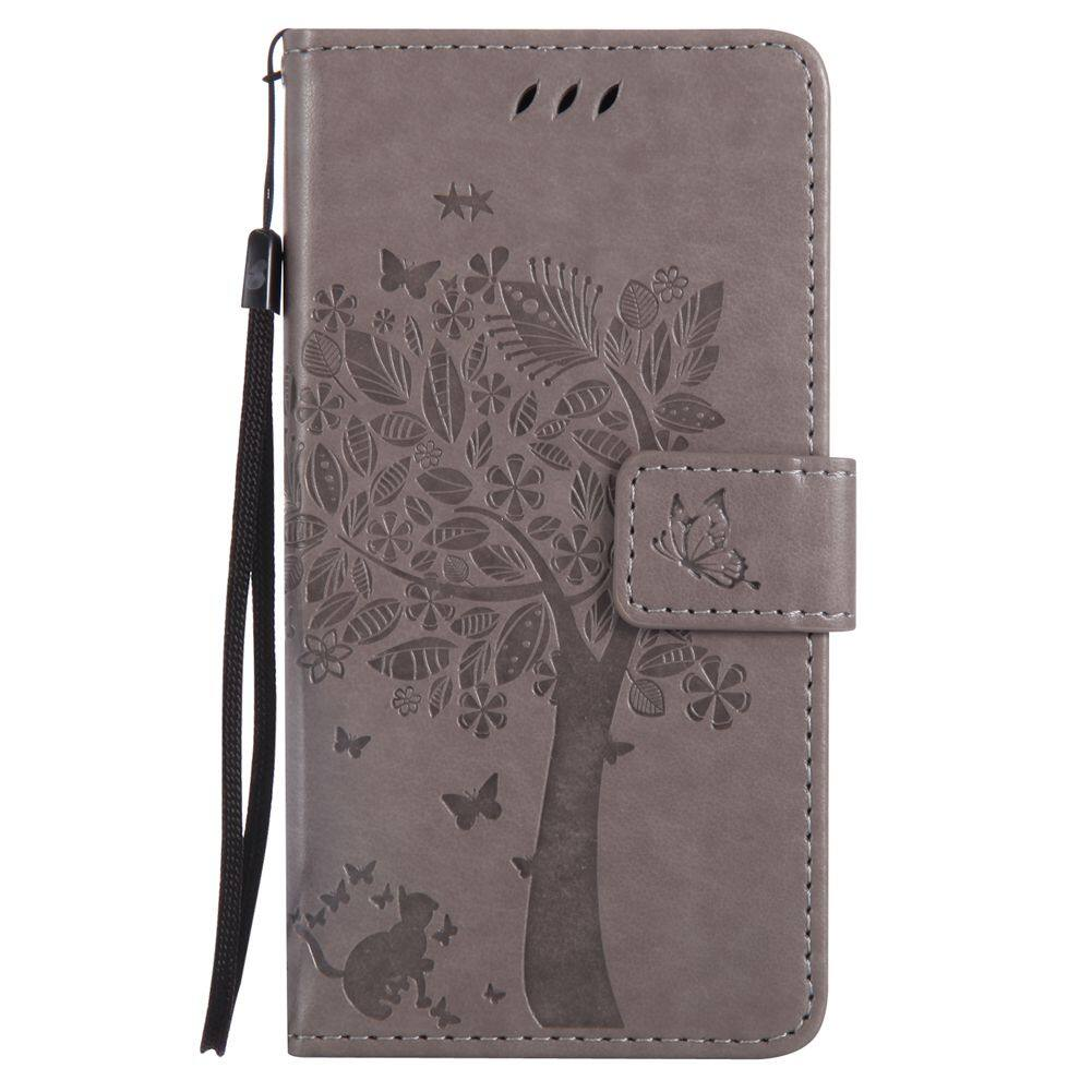 For Xiaomi Redmi 3S/3 Pro Gray Emboss Flower Solid color Leather Wallet Card Slot