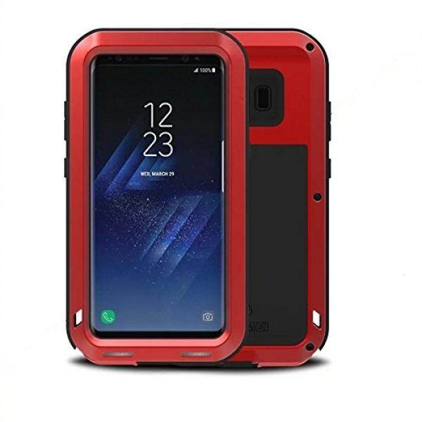Galaxy S8 Case,LOVE MEI Outdoor Shockproof Dropproof Rainproof Aluminum Metal Bumper Silicone Cover Case for Samsung Galaxy S8(Red) - intl