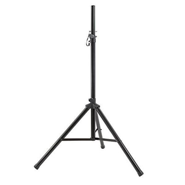 Gemini ST Series ST-04 Professional Audio DJ Fold-Out Telescoping Tripod Black Anodized Steel Speaker Stands (Set of 4), Up To 80